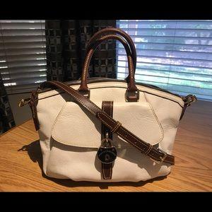 Dooney & Bourke Samba White Leather Messenger Bag